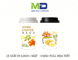 LY GIẤY IN LOGO ANBA COFFEE