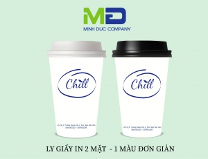 LY GIẤY IN LOGO CHILL COFFEE