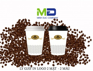 LY GIẤY IN LOGO DUY NHẤT COFFEE