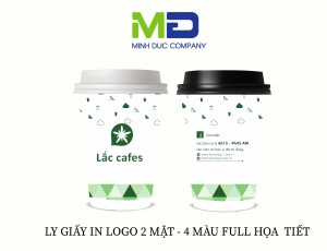LY GIẤY IN LOGO LẮC COFFEE