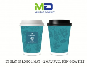 LY GIẤY IN LOGO MÊ COFFEE
