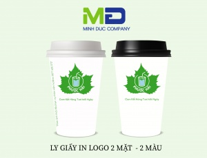LY GIẤY IN LOGO PHƯỚC HẢI JUICE