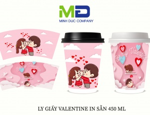 LY GIẤY IN SẴN VALENTINE DAY